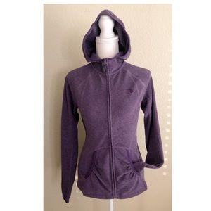 The North Face Polartec Fleece Zip Hoodie Purple S